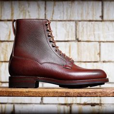 Russian Grain - Exclusive to Crockett & Jones. Crockett & Jones has… Mens Shoes Boots, Shoe Boots, Northampton Shoes, Jones Boots, Adventure Boots, Men Dress, Dress Shoes, Fashion Boots, Mens Fashion