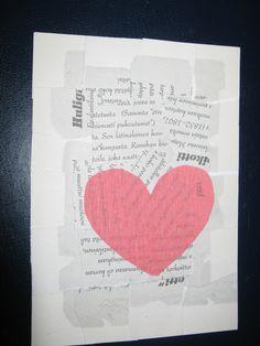 Sydänkortti ystävälle.