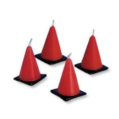 Construction Cone Candle Set