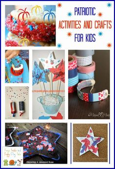 Patriotic Activities and Crafts for Kids by FSPDT. Great for memorial day and fourth of july.