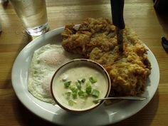 Podnah's chicken fried steak with gravy on side | Yelp