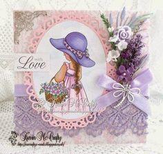 McCrafty's Cards: Graph'It Colour Crazy Challenge, Flower Power