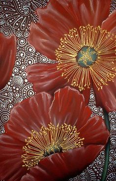 Red Poppies by Cherie Roe Dirksen (prints available) #art #poppy