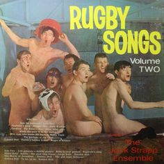 A colorful LP (and very blue). Rugby Songs Volume Two, The Jock Strapp Ensemble, Vintage Vinyl Record Lp Cover, Vinyl Cover, Cover Art, Worst Album Covers, Bad Album, Vintage Vinyl Records, Album Design, Weird And Wonderful, Music Albums