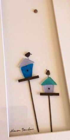 Pebble Art - Sharon Nowlan Birdhouses