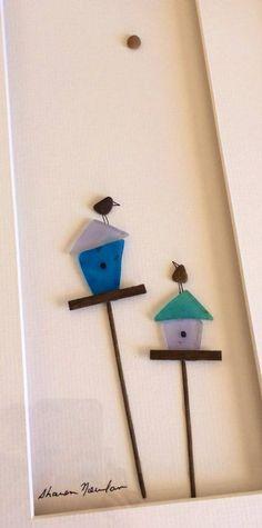 Pebble Art - Sharon Nowlan Birdhouses
