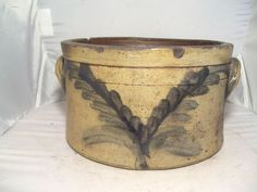 Pensylvania Stoneware Cake Crock  