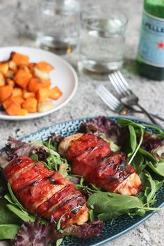 Honey Glazed Prosciutto Wrapped Chicken | Wicked Spatula