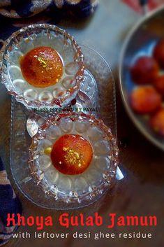 Khoya Gulab jamun using desi ghee residue a unique method of making gulab jamuns and their taste is no way less than the gulab jamuns made with regular khoya. Vegetarian Platter, Vegetarian Recipes, Jamun Recipe, Desi Ghee, Gulab Jamun, India Food, Indian Curry, Indian Sweets, Biryani