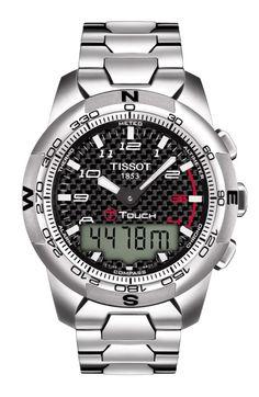 La T Touch 2 de chez Tissot en version Titane et carbone noir.
