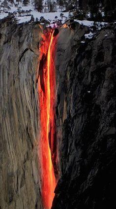 cachoeiras bizarras rabo de cavalo California