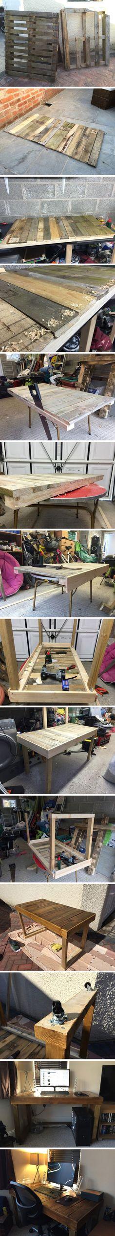 DIY: Schreibtisch Aus Alten Paletten