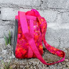 Items similar to BIG SALE! A beautiful one of a kind shoulder bag made of red and pink vintage fabric, Thai silk and bicycle inner tube. Beautiful One, Vintage Pink, Red And Pink, Bag Making, Bicycle, Shoulder Bag, Trending Outfits, Unique Jewelry, Handmade Gifts