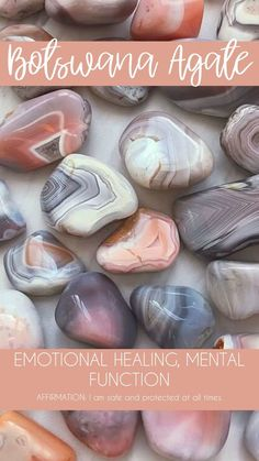 Botswana Agate Tumbled Pocket Stone — Rocks with Sass Crystal Healing Stones, Crystal Magic, Crystal Grid, Stones And Crystals, Gem Stones, Minerals And Gemstones, Crystals Minerals, Rocks And Minerals, A Silent Voice