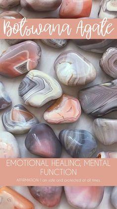 Botswana Agate Tumbled Pocket Stone — Rocks with Sass Crystal Healing Stones, Crystal Magic, Stones And Crystals, Gem Stones, Minerals And Gemstones, Crystals Minerals, Rocks And Minerals, A Silent Voice, Crystal Meanings