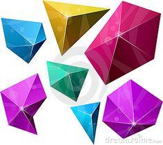 Imágenes de archivo libres de regalías: Pirámide vibrante poligonal. Imagen: 19188789