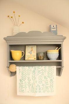 my beloved kitchen shelf summerly decorated