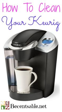 Do you know how to clean a Keurig coffee maker? Here are step by step instructions with pictures and a video to help you!