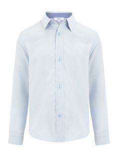 Dress up your little Mister in this gorgeous Hugo Boss Boy's Poplin Long Sleeve Shirt!