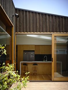 Gallery of Batten & Board House designed by Rob Kennon Architects Exterior Wall Cladding, House Cladding, Exterior Siding, Board And Batten Cladding, Board And Batten Exterior, Timber Battens, Timber Cladding, Cladding Systems, Cladding Ideas