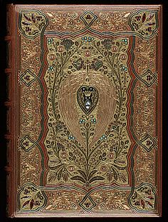 Lalla Rookh by Thomas Moore (Poet, Author. Ireland, 1779–1852). Cosway fine bookbinding by SANGORSKI & SUTCLIFFE (1860). Arabian romance originally published in 1817.   © Center Book & Periodical Collection, University of Texas, USA.