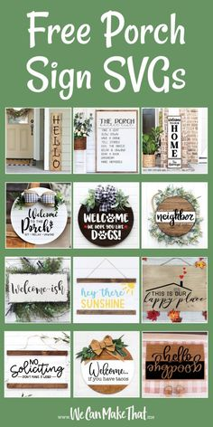 Free Porch Sign SVGs
