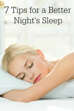 Great tips to get a better night's sleep!  I must take the time to do this!