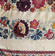 More Traditional Moravian Embroidery
