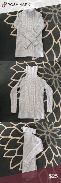 Gap sweater A great grey knit turtle neck sweater. New with tags. Super warm and comfy. Love the gap! Gap Sweaters, Turtlenecks, Cowl, Warm, Knitting, Grey, Closet, Things To Sell, Style