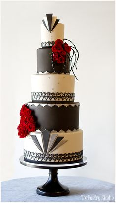 Great Gatsby-Art Deco Wedding Cake by The Pastry Studio: Daytona Beach, Florida