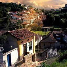 The black Gold city. It's in Mina's Gerais State in the east region of Brazil, Countries In America, Largest Countries, States Of Brazil, South America Travel, Hotel Spa, Little Houses, Beautiful Beaches, Countryside, Around The Worlds