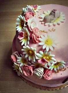 Baby flower cake :)