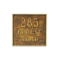 Montague Metal Products Estate Classic Square Address Plaque Finish: Sea Blue / Gold, Mounting: Lawn