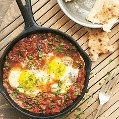 Egyptian Shakshuka Brunch Recipe | Shakshuka is the perfect weekend breakfast recipe - the sort of baked eggs brunch you want to fill you up on a lazy day For the full recipe click the picture or see www.redonline.co.uk