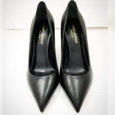 809d55c818f Saint Laurent Black Pumps Never been worn Saint Laurent black smooth  leather pumps. Includes original