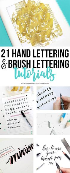 I've rounded up 21 of the best Hand Lettering and Brush Lettering Tutorials…