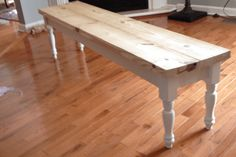 How to build a super simple DIY dining bench in no time! I'm so excited to bring you this really fun project that anyone can build in no time!