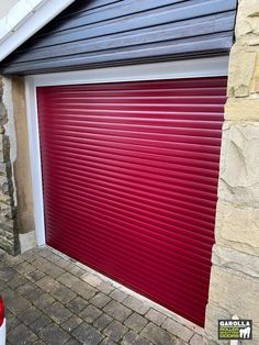 Are you wanting an electric roller garage door? Our roller shutter doors open with the press of a button. You don't even have to leave your car! Click the link to see our garage doors for sale. Red Garage Door, Garage Doors For Sale, Garage Door Makeover, Roller Doors, Roller Shutters, Garage Organisation, Garage Storage, Electric Rollers, Shutter Doors