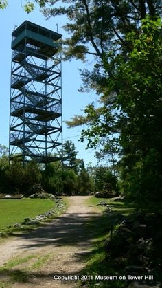 The panoramic view from this a former fire lookout is stunning, and is worth the 131 steps up. The tower, 96 feet high, is situated in Tower Hill Park, next to the West Parry Sound District Museum.