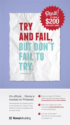 #RomaPinItContest contest win fail quote