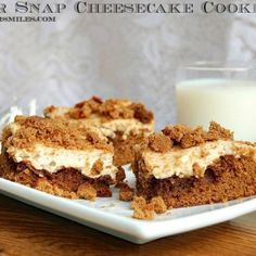 Gingersnap Cheesecake Cookie Bar 4ed