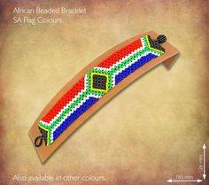 Beaded SA Flag Bracelet