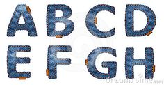 Denim letters by Smilingsunray, via Dreamstime