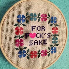 Pattern: Cross Stitch For Fck's Sake PATTERN by StitchBitchDarling