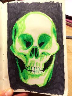 Skull. Ida Exner 2015 Painting & Drawing, Skull, Paintings, Drawings, Fictional Characters, Art, Art Background, Paint, Painting Art