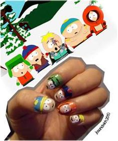 South Park Nails  Colours: Rose, Blue, yellow, white, Black, Green, dark-Blue, red, Orange  Length: 20 Minutes