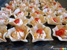 Mini Taco Dip Bites { appetizer idea } ~ Madigan Made