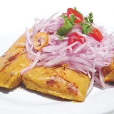 """Take breakfast to the next level! """"Peruvian tamales"""", just delicious."""