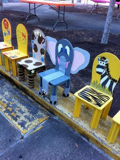 chairs for kids animal theme - Google Search