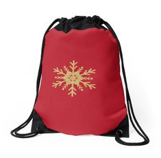 'Golden Glitter Sparkle Snowflake on Christmas Cranberry Red' iPhone Case by podartist Custom Drawstring Bags, Drawstring Backpack, Golden Glitter, Semi Transparent, Red S, Red Christmas, Iphone Wallet, Sell Your Art, Midnight Blue